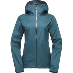 Black Diamond Stormline Stretch Regen Shell Jacke Damen spruce